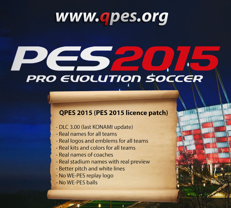 QPES 2015 (PES 2015 licence patch)