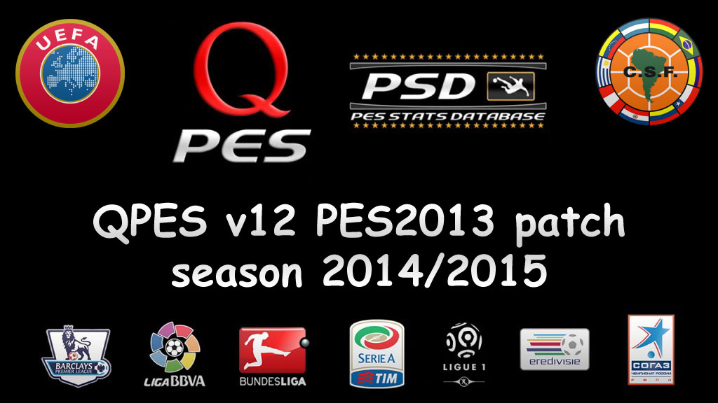 PES 2013 patch Season 2014/2015 (qpes v12)