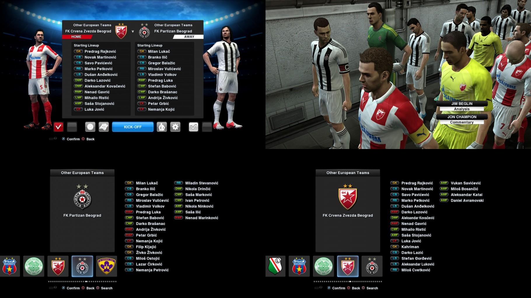 Crvena Zvezda - Partizan 14-15 PES 2013